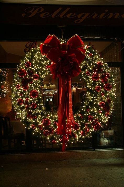 Large Outdoor Wreath For House by Fantastic Lights Display Family