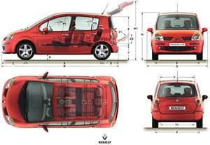 Renault Modus Dimensions Tutorials3d Blueprints Renault Modus