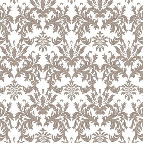 brown royal pattern vector baroque vintage floral damask pattern luxury