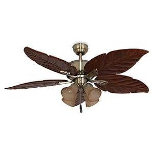 ceiling fan with palm leaf blades buy bronze leaf from bed bath beyond
