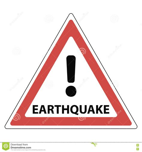 earthquake signs sign of the earthquake the red triangle exclamation mark