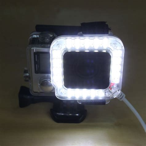 Gopro 4 White pannovo g 784 fill light for gopro 3 4 translucent white free shipping dealextreme