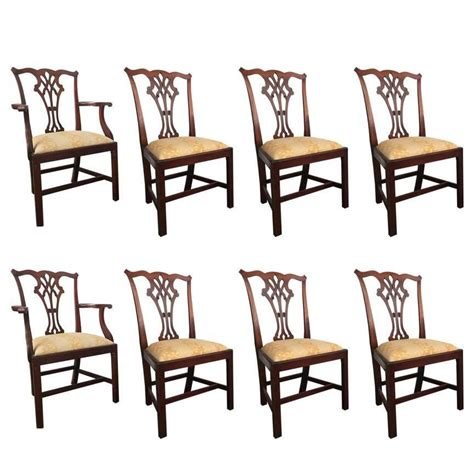 chippendale dining room chairs set of eight chippendale dining chairs at 1stdibs
