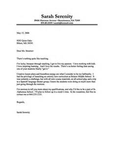 Cover Letter Exles Education by Cover Letter Exle Of A With A For