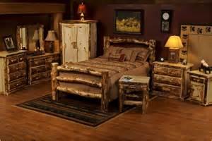 log bedroom furniture sets