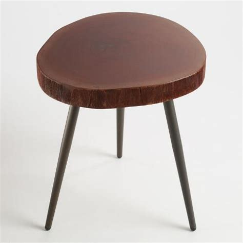 wood accent tables wood slice accent table market
