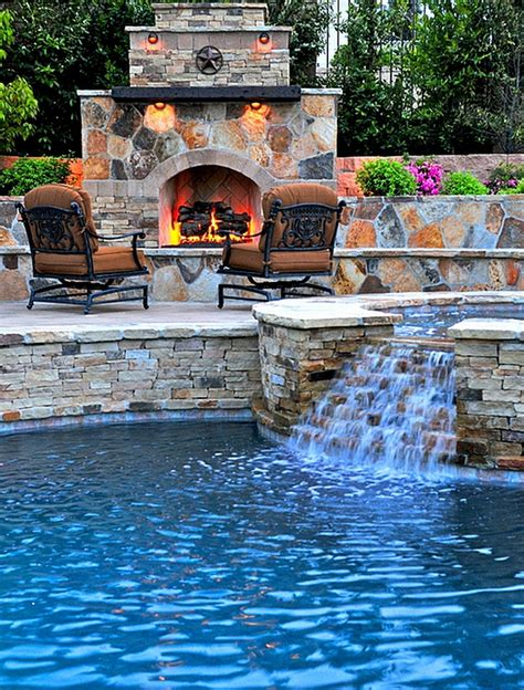 Pool Backyards by Breathtaking Pool Waterfall Design Ideas