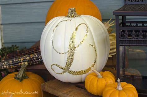 monogram pumpkin templates glitter monogrammed pumpkin unoriginal