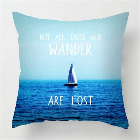 wander  lost quote cushion