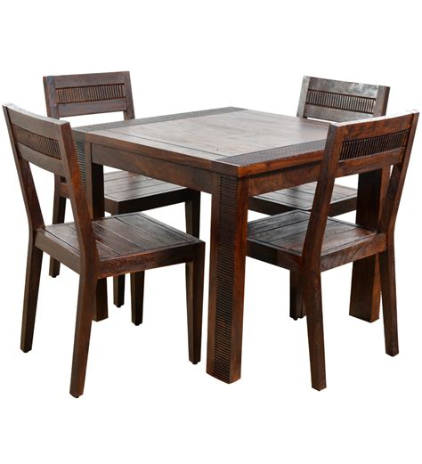 4 Seat Dining Table And Chairs Buy Venus Four Seater Dining Set 1 Dining Table 4 Dining Chairs By Hometown Four