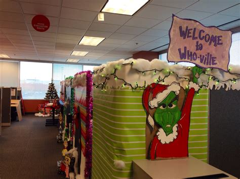 who ville cubical decoration grinch theme pinterest