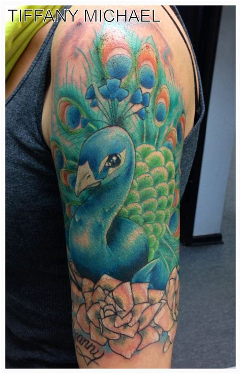 peacock sleeve tattoo peacock half sleeve tattoos i did