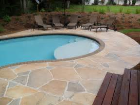 Pool Patio Design Concrete Pool Deck Ideas Concrete Flagstone Simulation Pool Deck Spartanburg Sc Pool
