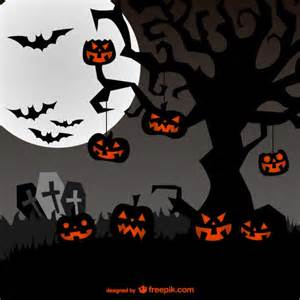 spooky background for halloween vector free download