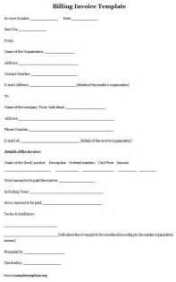 invoice template for billing sample of billing invoice