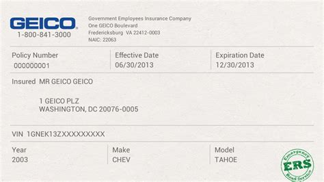 Geico Proof Of Insurance Card, GEICO Insurance Quotes