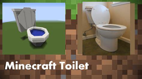 how to make a minecraft bathroom minecraft minecraft restroom bathroom toilet youtube