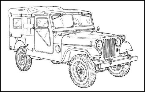 military jeep coloring pages m170 ambulance for the jeep coloring book jeep coloring