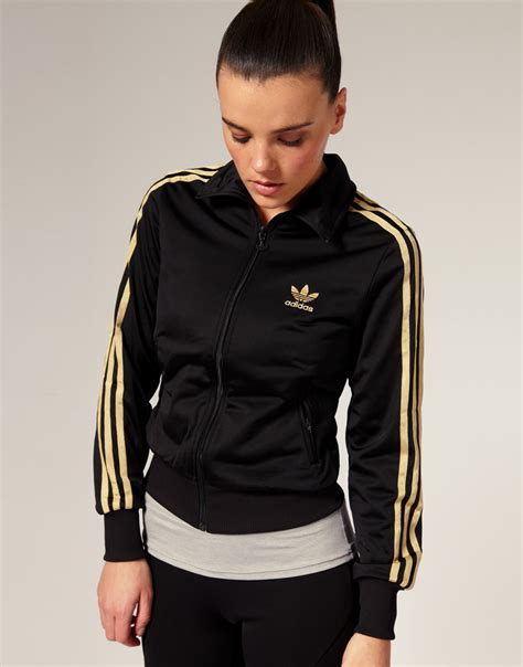 Jaket Sweater Adidas Colourfull Logo Black Jk2011 lyst adidas gold stripe classic track jacket in black