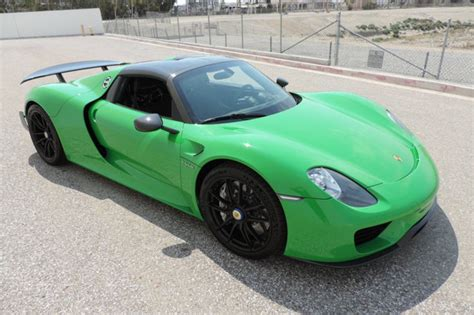 green porsche viper green porsche 918 spyder for sale at 1 999 999