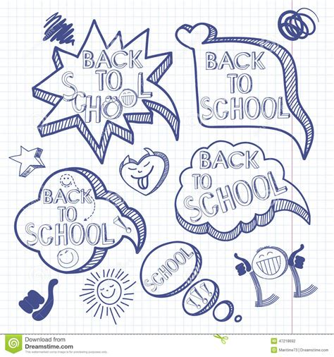 doodlebug academy back to school doodle background with set of