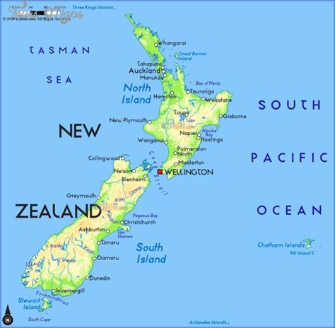 map new map new zealand on a map of the world toursmaps