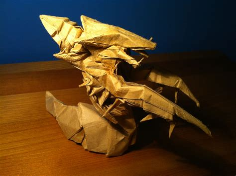 Origami Hydralisk - origami hydralisk 28 images videogame origami part 4