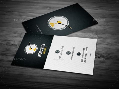 Chef Business Card Template Photoshop by 25 Chef Business Card Templates Free Premium