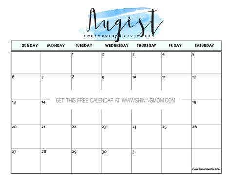 printable calendar august free printable august 2017 calendars 12 awesome designs