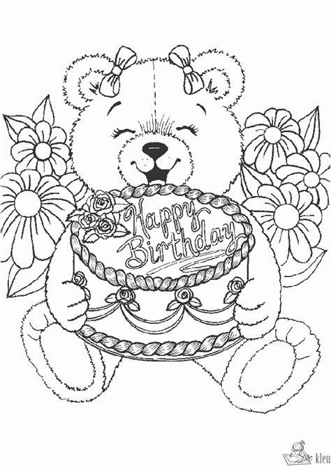 happy birthday nanny coloring pages kleurplaten gefeliciteerd kleurplaten kleurplaat nl
