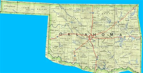 oklahoma counties map oklahoma counties map with roads swimnova