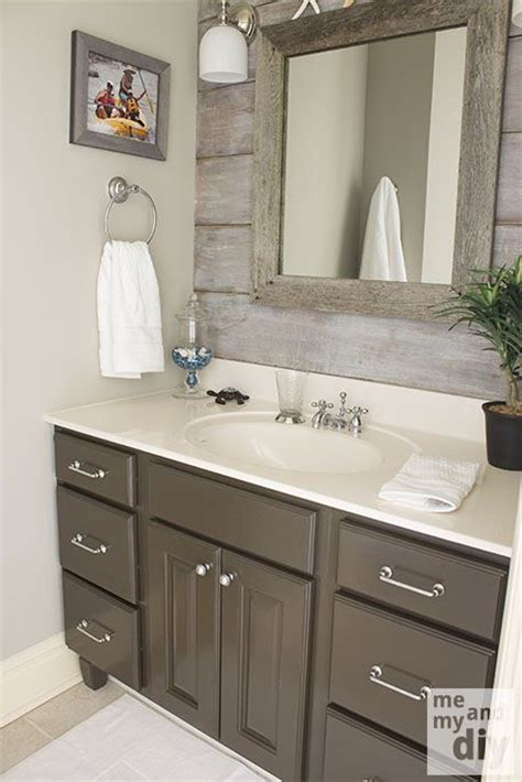 bathroom paint ideas gray gray painted cabinets benjamin thunder gray bathroom paint color the barnboard