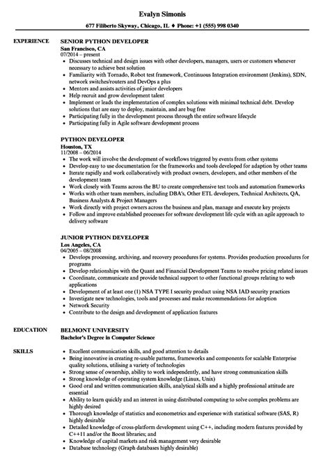 Ios Developer Resume Sle