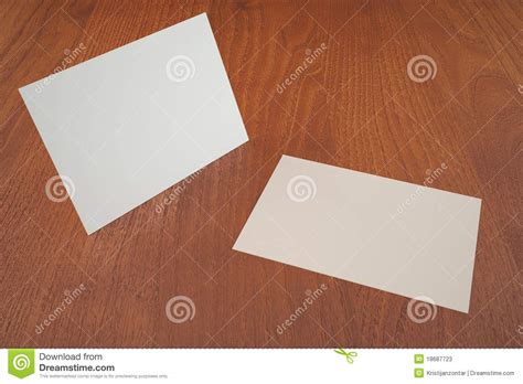 white business cards empty presentation template stock