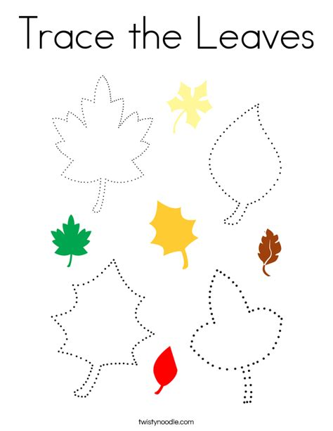 tracing and coloring heartfelt holidays an tracing and coloring book for the holidays books trace the leaves coloring page twisty noodle
