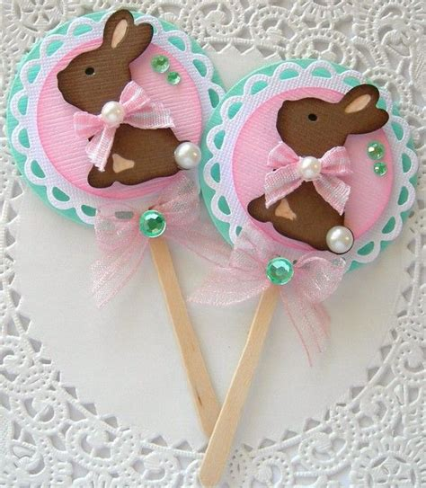 Pretty Scrapbooking Embellishments For Easter by Easter Chocolate Bunny Embellishments Cupcake