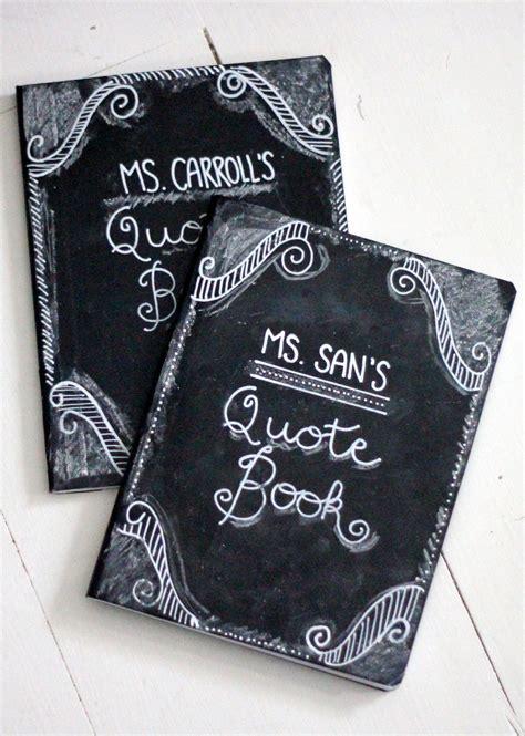 design journal gift how to make a chalkboard covered journal diy teacher gift
