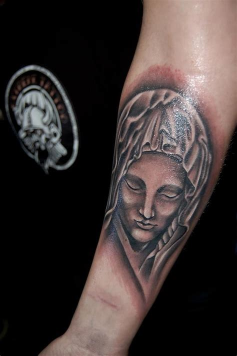 extreme tattoo sleeves religious tattoo sleeve in progress saint marry tattoo