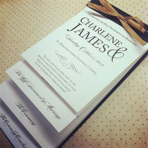 the nicole layered wedding programs