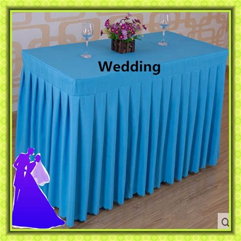 cheap polyester table skirts banquet table skirts promotion shop for promotional