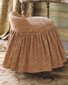 vanity stool with skirt glamorous interiors horchow vanity stools