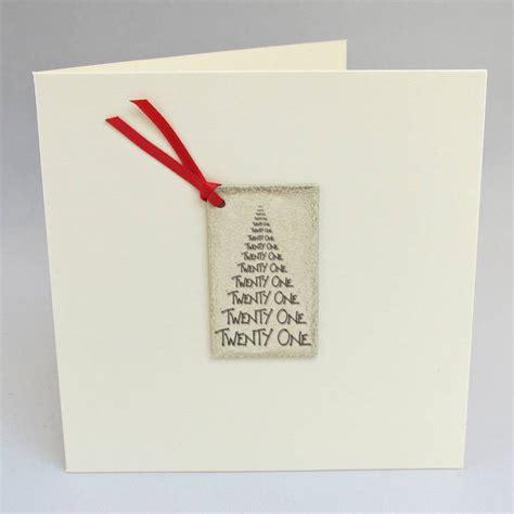 Handmade 21st Birthday Card - happy 21st birthday handmade card by chapel cards