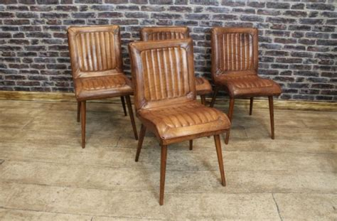 retro style leather dining chair