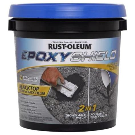 rust oleum epoxyshield 1 gal blacktop patch and