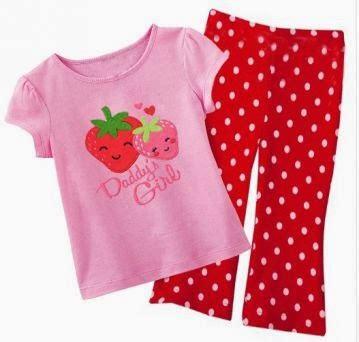 Maison Polka Pink Setelan Anak Perempuan Casual baju bayi dan anak baju anak perempuan s pipo
