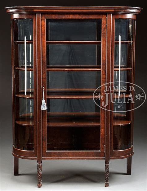 glass mirrored china cabinet curved glass mahogany china cabinet with mirrored back
