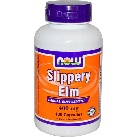 slippery elm for dogs now foods slippery elm 400 mg 100 capsules iherb