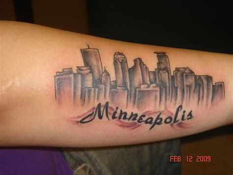 mpls skyline possibly my favorite tattoo minneapolis