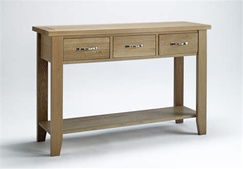 Slim Hallway Table Compton Solid Oak Furniture Large Hallway Console Table Ebay