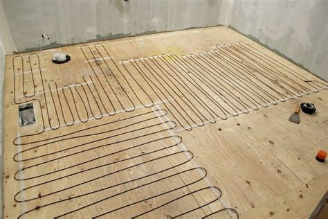 installing heated floor in bathroom how to install a heated tile floor and also how not to
